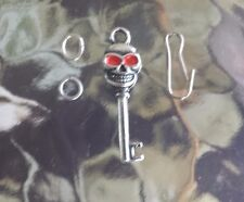 2 SKULL HEAD WITH RED EYES KEY use as Zipper Pull, Pendant or Charms ALL NEW