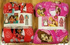 Disney Princess & Elena Avalor A Lot of 2 Girls Robe Hood & 2 PC Set Pajama Sz 6
