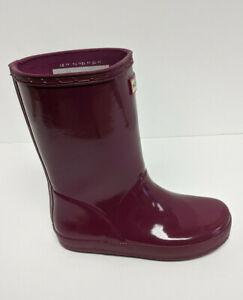 Hunter Original First Classic Rain Boots, Purple, Little Kids 13 M