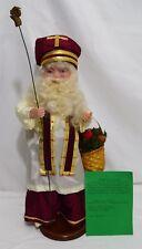 June and Dennis Tressler Folk Art France St Nicholas Santa Doll Figurine