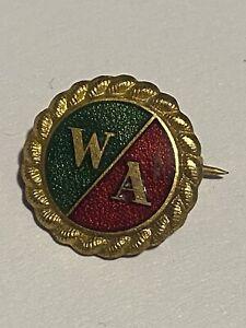 WW2 WA Womens Action-Fascist-Union Membership Enamel Badge By J R Gaunt London