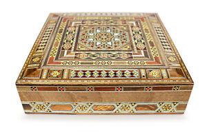 Schmuckkasten Holzschatulle,Box,Kästchen,Mosaik Kunsthandwerk Damaskunst K 22-44
