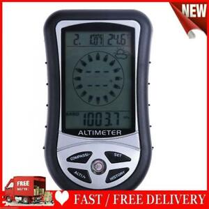 Handheld Compass Altimeter Barometer Thermometer Weather Forecast Time