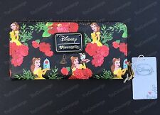 Disney / Loungefly Wallet Belle Floral Zipper Nwt
