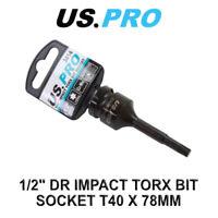 """US PRO Tools 1/2"""" DR Impact Torx Bit Socket T40 X 78MM 3414"""