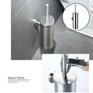 Wall Mounted Toilet Brush and Holder Deep-Cleaning for Bathroom Organization