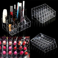Clear 24 Makeup Cosmetic Lipstick Storage Display Stand Rack Holder Organizer FE