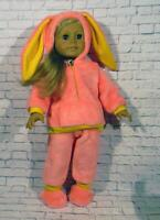 American Girl Doll Clothes 18 inch handmade doll clothes-pink rabbit costume
