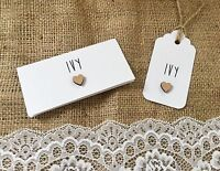 Rustic Heart Place card guest name card wedding Pack of 10 personalised