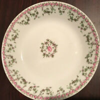 "Haviland & C Limoges Floral Salad Bowl 7 1/2"" Serving Plate"