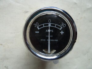 """Original Lucas Ammeter-New Land Rover Series1 80"""" Massey Ferguson 35,65,135,165."""