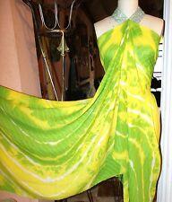 "Apparel & Fashion Yellow/Green Striped Chiffon 44"" Wide By Two Yards Panel"