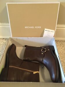 MICHAEL KORS GEORGINA BROWN BOOTIE SIZE 6 New In Box $225