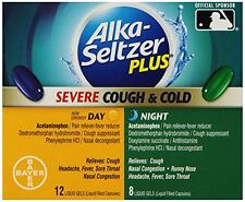 2 Pack - Alka-seltzer Plus Severe Cough and Cold Day/Night Liquid Gels, 20 Each