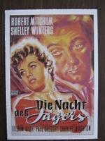 Filmplakatkarte / moviepostercard  Die Nacht  des Jägers  Robert Mitchum