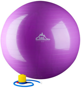 Black Mountain Products 2000Lbs Static Strength Exercise Stability Ball With Pum