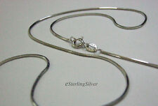 """925 Sterling Silver Snake Chain / Necklace - 20"""" Inches, 4 Grams, 1mm"""
