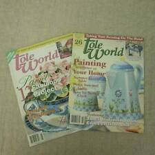 Tole World Magazine 2 Issues 99-03 Tole Decorative Painting Instructions Pattern