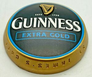 GUINNESS EXTRA COLD METAL CIRCULAR PUMP BADGE - T BAR PUB HOME BAR BEER BIER