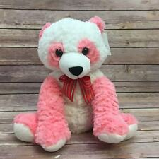 "Season of Love Plush Bear White Pink Red Bowtie Size 15"" Nwt"