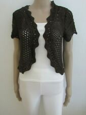 NWT BROWN KNITTED BOLERO SIZE 14
