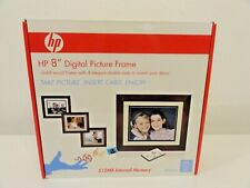 HP 8 inch Digital Picture Frame Solid Wood Frame with Remote