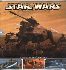 STAR WARS 2005  EVOLUTIONS VEHICLES CALENDAR NEVER USED