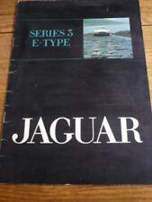 JAGUAR E TYPE V12, SERIES 3, PRESTIGE, CAR BROCHURE