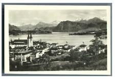 Suisse, Lucerne, Panorama Vintage silver print.  Tirage argentique  6x9  C