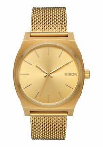 Nixon Orologio uomo donna acciaio Time Teller Milanese all gold quarzo