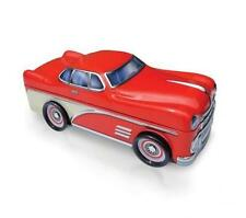 Classic Red Sports Car Silver Crane Decorative Tin 10 inch Retired