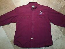 Cabelas Outdoor Gear Embossed Duck Long Sleeve Shirt 100% Cotton Red 2XL Tall