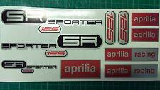 Aprilia SR125 SPORTER decals, stickers, graphic, racing SR 125 black red silver