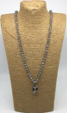 Crystal Pendant Woman Necklace Gift Fashion M-knot Crystal Beads stone