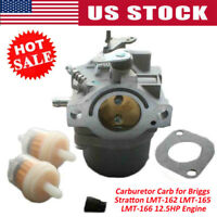 Carburetor Carb for Briggs Stratton LMT-162 LMT-165 LMT-166 12.5HP Engine US