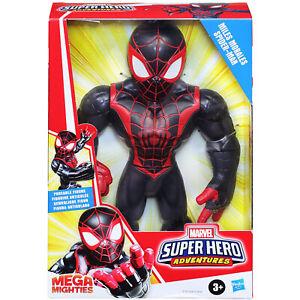 "Marvel Super Hero Adventures Mega Mighties 10"" Miles Morales Spider-Man"
