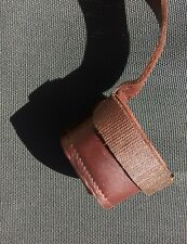 Basson Fagott leather seat strap with boot cup handmade signed