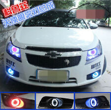 2x LED DRL Lights fog projector lens + angel eyes For Chevrolet Cruze 2011-2014