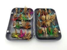 32 Fliegen mit Köderbox, Fliegenfischen, Trockenfliegen, Forelle, Lachs F3