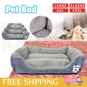 Pet Dog Cat Kitten Puppy Calming Beds Comfy Shag Warm Soft Fleece Nest Mattress