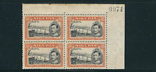 NIGERIA 1938 KGVI NIGER at JEBBA (SG 59 perf 13X11.5 5sh) MNH plate block of 4