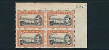 NIGERIA 1938 KGVI NIGER at JEBBA (SG 59 perf 13X11.5 5sh) MNH plate block of 4