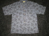 FLAWLESS Hawaiian Aloha 100% Silk Camp Shirt LARGE