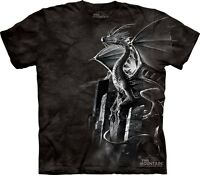 Silver Dragon T-Shirt by The Mountain. Fantasy Tee Sizes S-5XL NEW