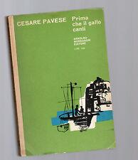 cesare pavese - prima che il gallo canti - edizione mondadori  1964
