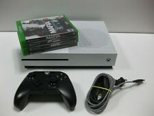 New listing *Bundle* Microsoft Xbox One S 1681 White 1Tb Console w/ 1 Controller & 4 Games!