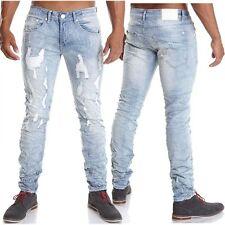 Stonewashed L32 Herren-Straight-Cut-Jeans niedriger Bundhöhe (en)