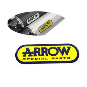 Motorcycle Aluminum Heat-resistant Exhaust Pipe Sticker Yellow Arrow Decal 1pc