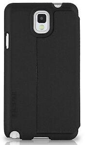 Incipio Watson Leather Folio Hard Case BLACK for Samsung Note 3 Smartphone New