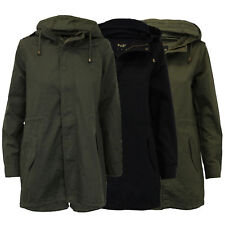 Ladies Women Hooded Fish Tail Military Jacket Coat By Brave Soul